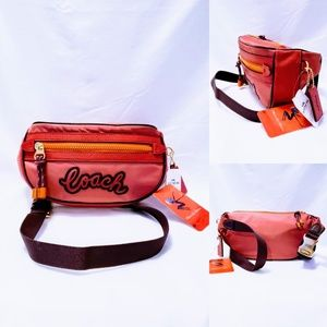 Coach Vale Fannypack/Belt Bag F76649 Rouge 🆕🦄